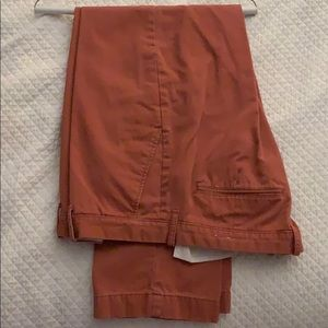 J. crew washed twill orange Trousers sz 36x30